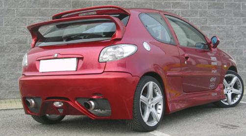 SPORT Heckschürze/Heckstoßstange Peugeot 206