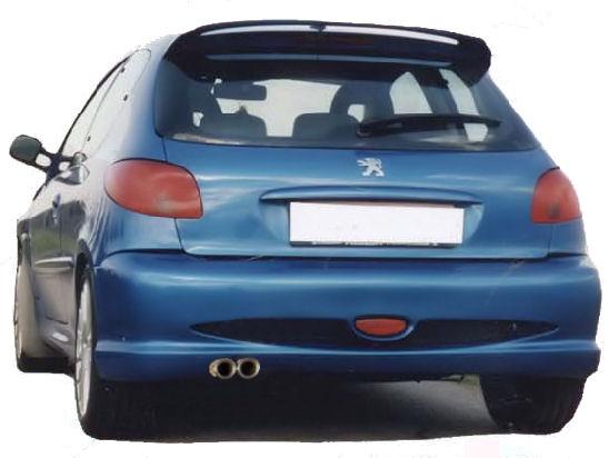 SUPER Heckschürze/Heckstoßstange Peugeot 206