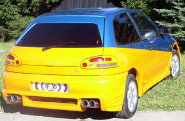 FX Heckschürze/Heckstoßstange Mitsubishi Colt CA0