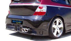 CRAZY Heckschürze/Heckstossstange für Honda Civic