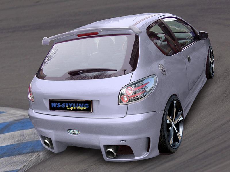 CRAZY Heckschürze/Heckstoßstange Peugeot 206