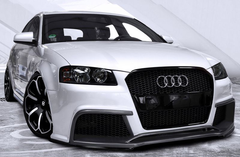 gtrs front bumper spoiler for audi a3 8pa spoiler. Black Bedroom Furniture Sets. Home Design Ideas